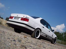 442 BMW 5er Seitendesign schwarz matt