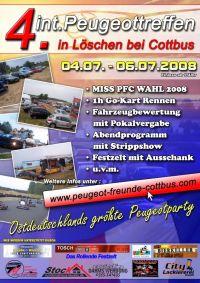 198 Poster Peugeot Treffen