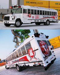 US-Schoolbus nach dem Umbau
