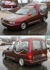 422 VW Caddy mit Firmenwerbung gestaltet