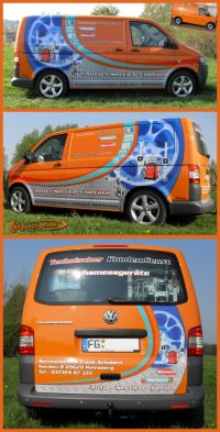 421 VW T5 Transporter mit Firmenwerbung im Digitaldruckverfahren