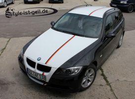 397 Teilfolierung weiß BMW