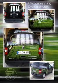 352 Beklebung Digitaldruck VW Caddy