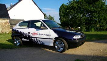 496 Opel Astra Teilverklebung
