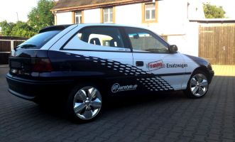 495 Opel Astra Teilverklebung